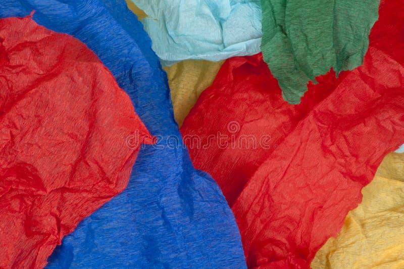Beaucoup de morceaux colorés de papier déchiré image libre de droits