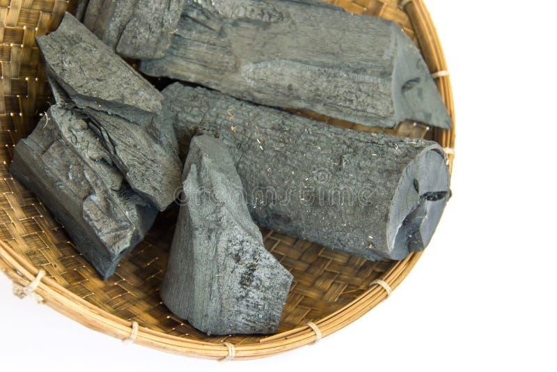 Beaucoup de morceaux de charbon de bois images libres de droits