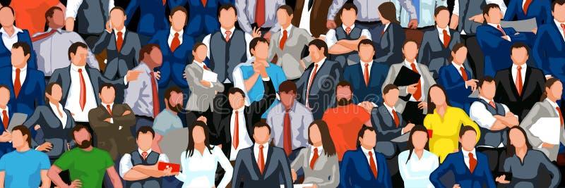 Beaucoup de personnes colorées illustration stock