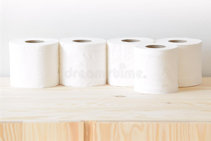 Beaucoup de rouleaux de serviette de papier photo libre de droits