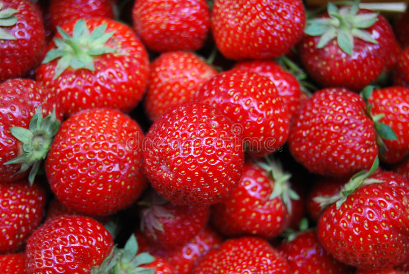 Beaucoup de strawberrys photographie stock