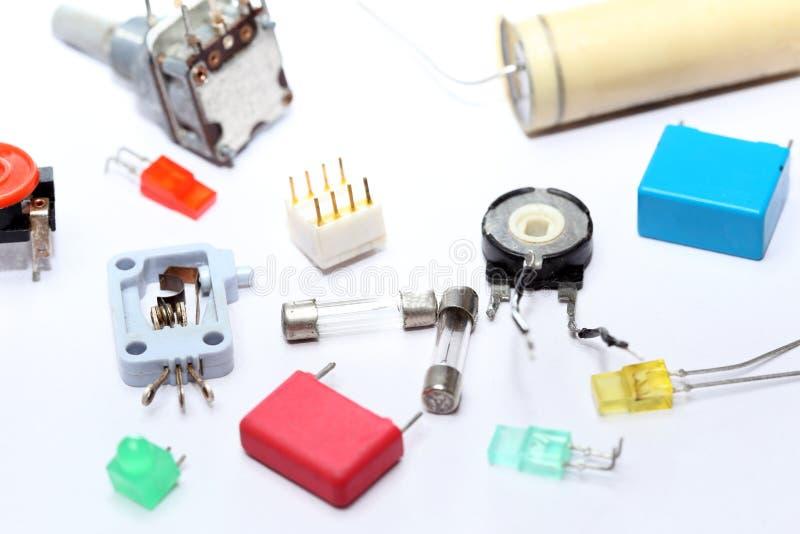 Beaucoup de vieux dispositifs électriques photos libres de droits