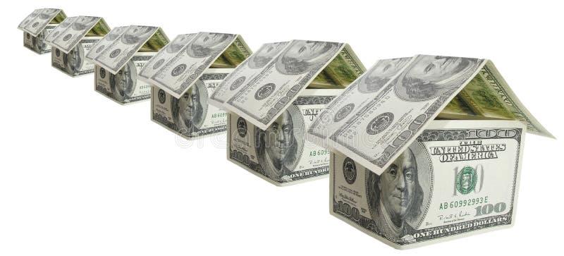 Beaucoup maison du dollar photographie stock