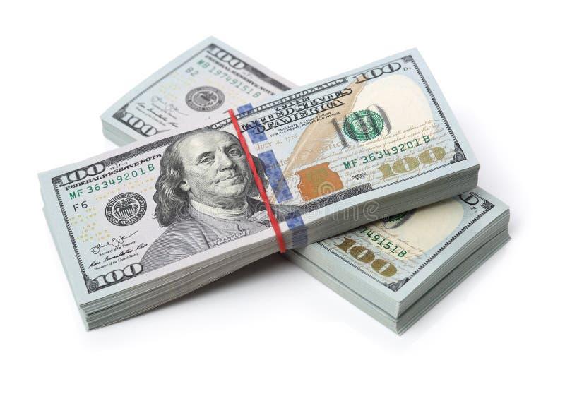 Beaucoup paquet des USA 100 dollars de billets de banque photo libre de droits