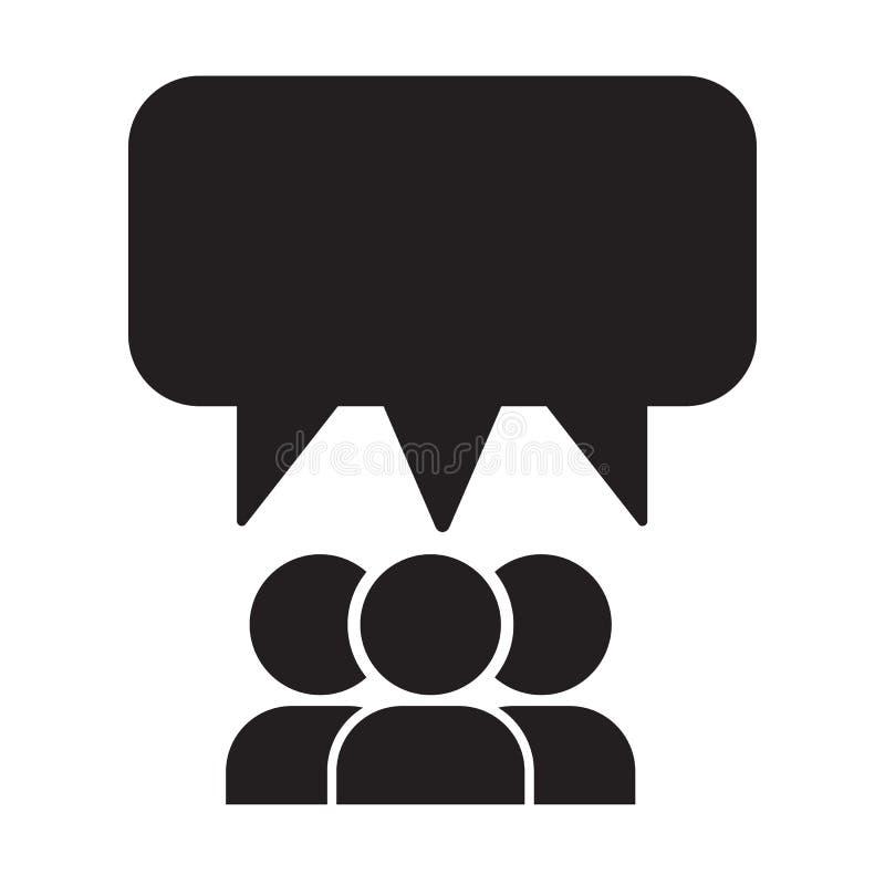 Beaucoup personne et conception parlante d'illustration de vecteur d'icône de ballon illustration stock