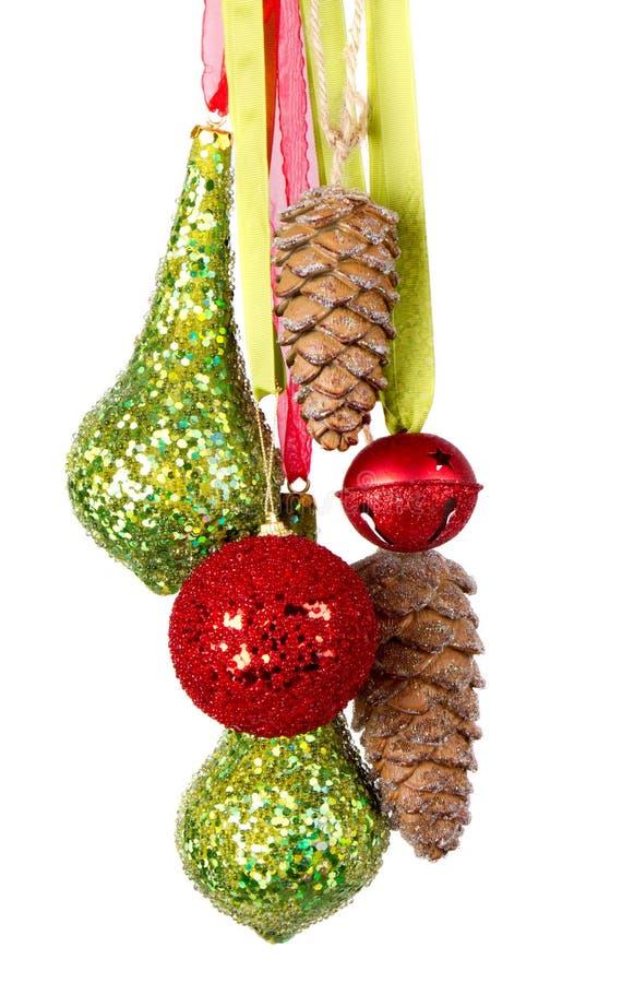 Beaucoup s'arrêter d'ornements de Noël ou de vacances image libre de droits