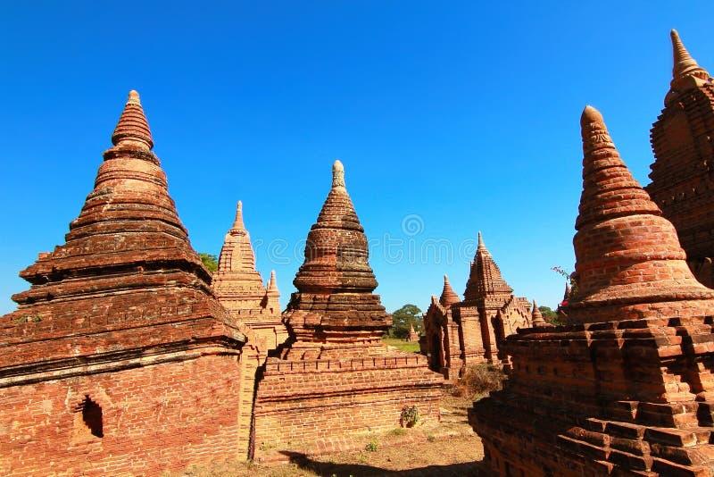 Beaucoup temple et pagoda dans myanmar bagan images stock
