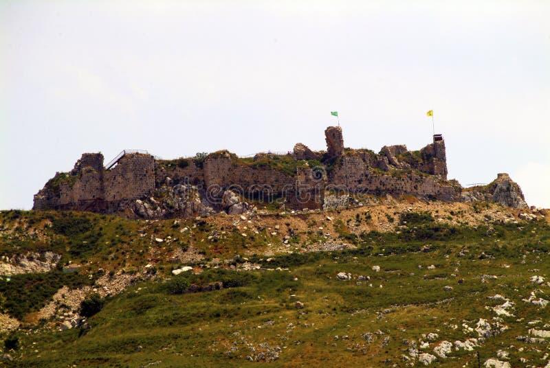 Beaufort烈士城堡,纳巴泰省,黎巴嫩后方  免版税库存图片