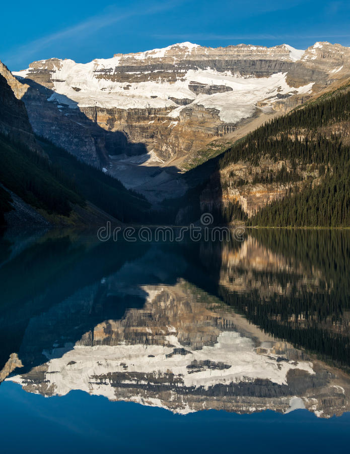 Beauful Lake Louise, Alberta, Canada. Mountains and Glacier reflecting at Lake Louise, Alberta, Canada royalty free stock photography