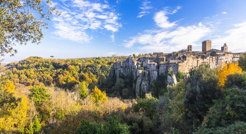 Beauiful medieval villages of Italy -Vitochiano. Most beauiful medieval villages of Italy -Vitochiano (Viterbo province royalty free stock image