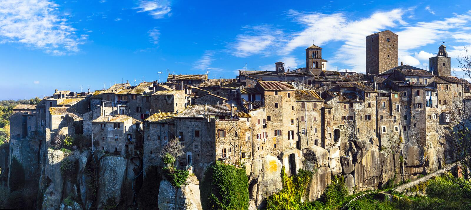 Beauiful medieval villages of Italy -Vitochiano. Most beauiful medieval villages of Italy -Vitochiano (Viterbo province stock photography