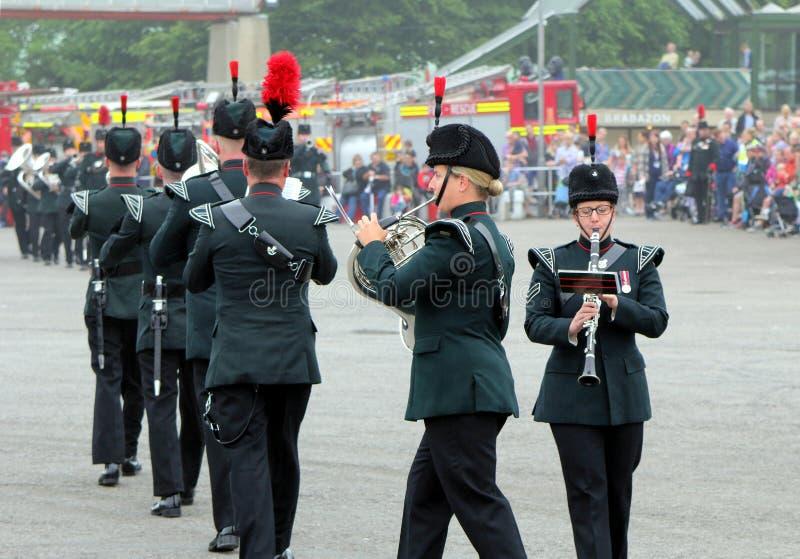 Beaulieu, Hampshire, Regno Unito - 29 maggio 2017: Fanfara militare di fotografia stock