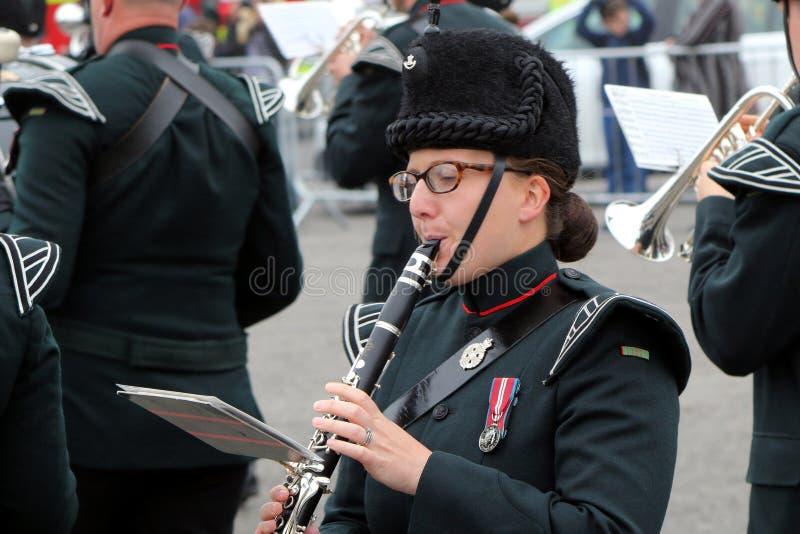 Beaulieu, Hampshire, Regno Unito - 29 maggio 2017: Wi femminili del giocatore del clarinetto immagini stock