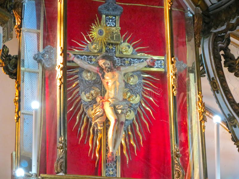Beaultiful Jesus Image in der Kirche lizenzfreie stockfotografie