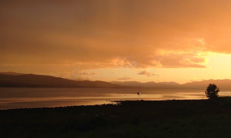 Beauly-Förde-Sonnenuntergang stockbild