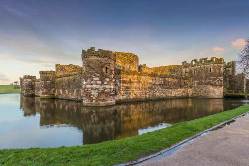 Download Beaumaris Castle stock photo. Image of dusk, architecture - 38725808