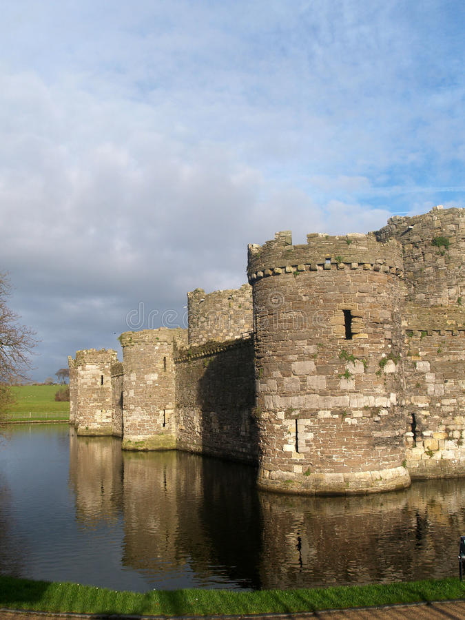 Beaumaris Castle. On the welsh island of Anglesey stock image