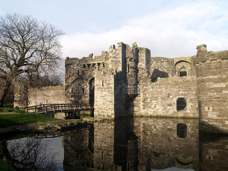 Beaumaris Castle. On the welsh island of Anglesey royalty free stock images