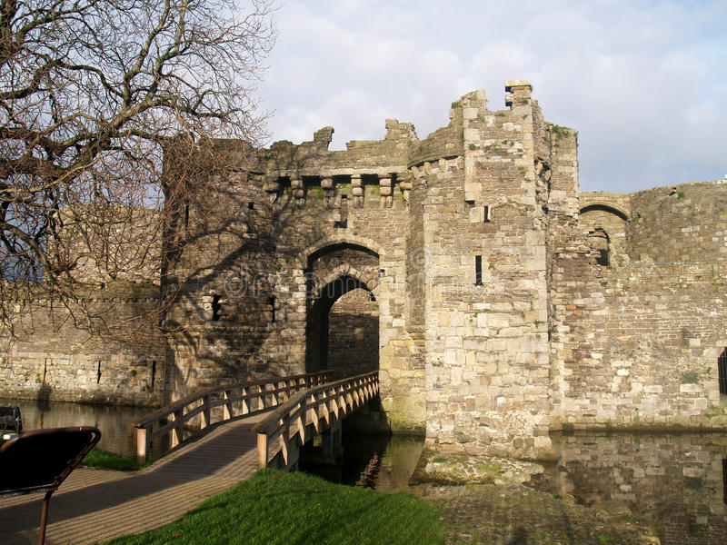 Beaumaris Castle. On the welsh island of Anglesey royalty free stock photos