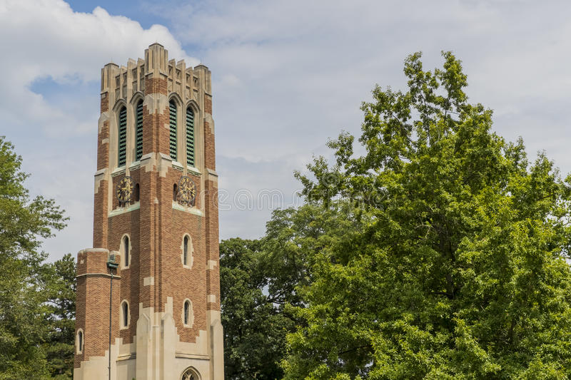 Beaumont Tower at Michigan State University stock images