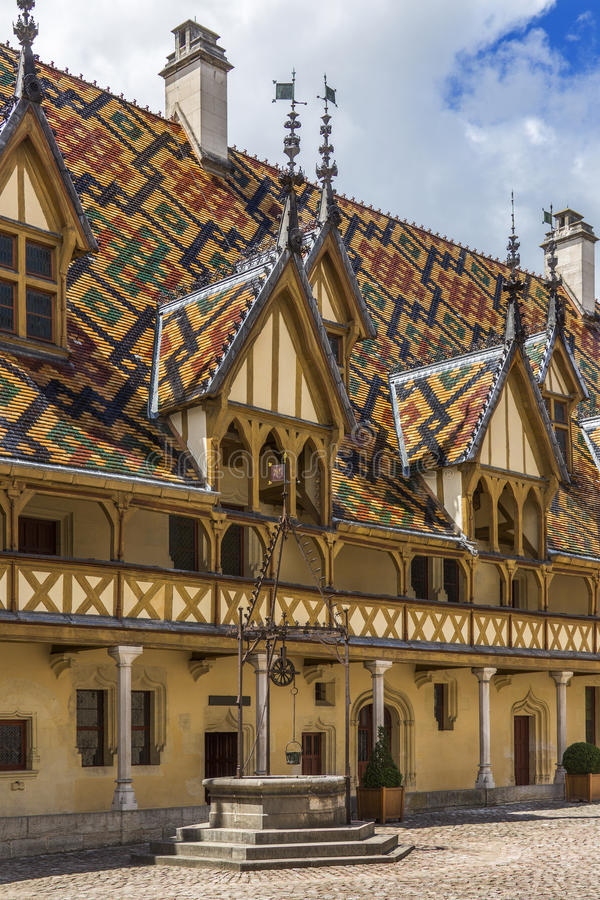 Beaune - Burgundy - Frankrike royaltyfri fotografi