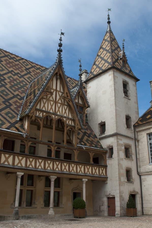 beaune de klosterhärbärge royaltyfri fotografi