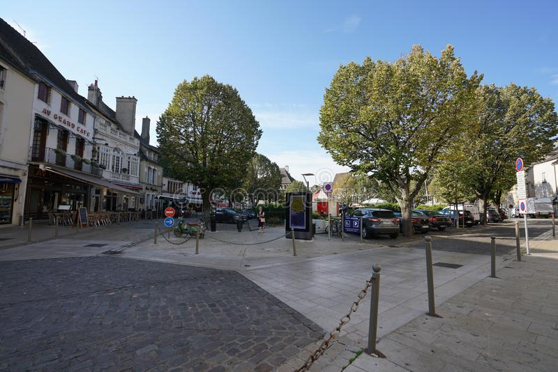 Carnot Place in Beaune, France. Beaune,France-October 15, 2018: Carnot Place in Beaune, France stock image