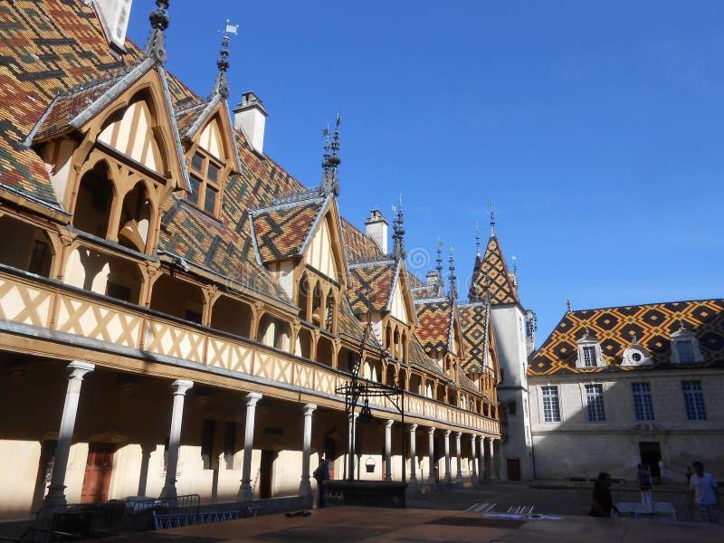Beaune, hotel-Dieu Frankrijk, Bourgogne royalty-vrije stock foto