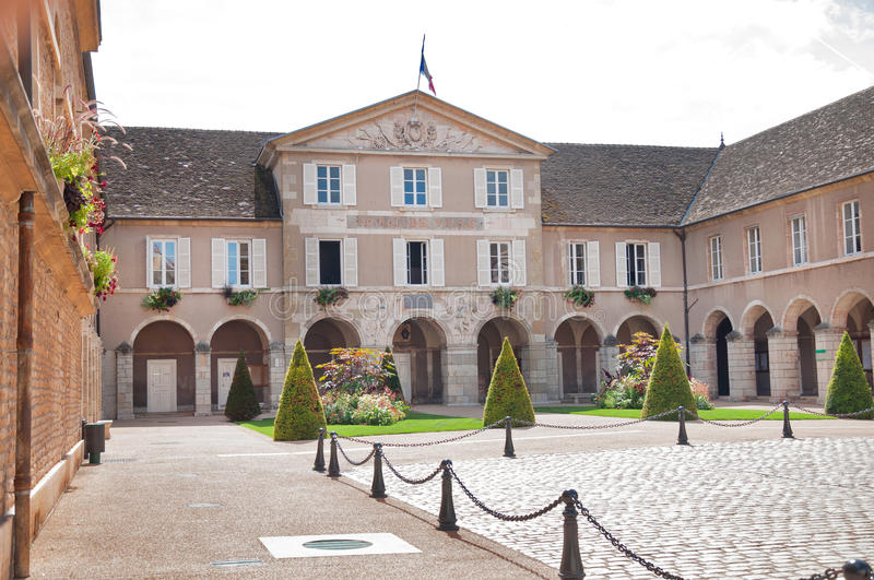 Beaune. The Town-hall of Beaune, Burgundy, France royalty free stock photos