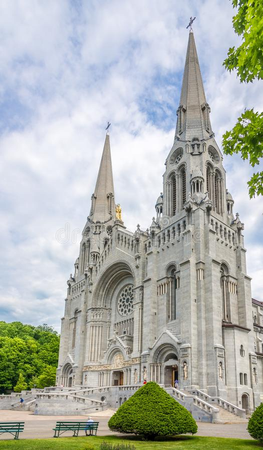 View at the Basilica of Sainte Anne de Beaupre in Canada. BEAUPRE,CANADA - JUNE 17,2018 - View at the Basilica of Sainte Anne de Beaupre. The basilica is known royalty free stock image