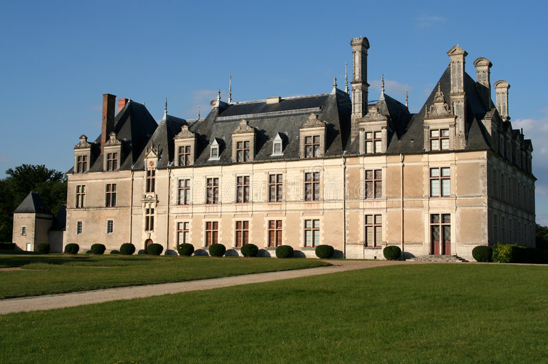 beauregard城堡法国 免版税库存图片