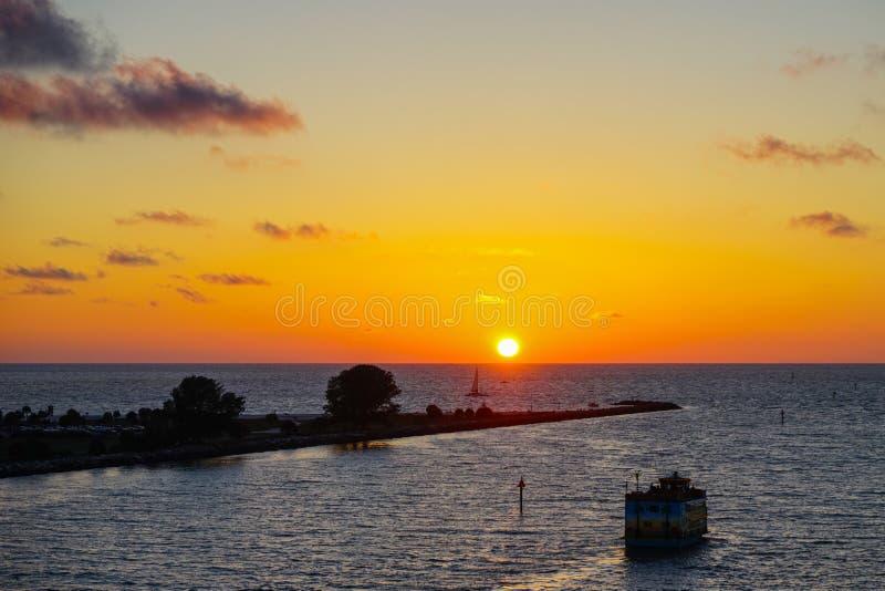 Beaustiful-Sonnenuntergang stockfotografie