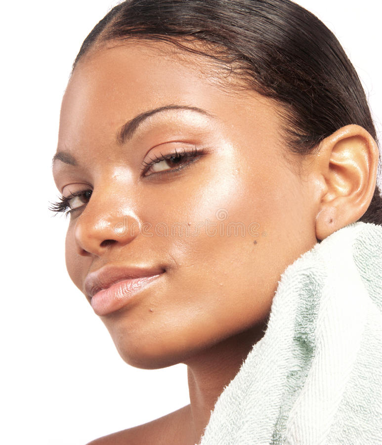 Beauté afro-américaine. image stock