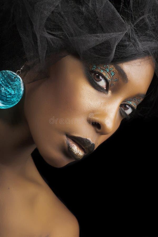Beauté afro-américaine photographie stock