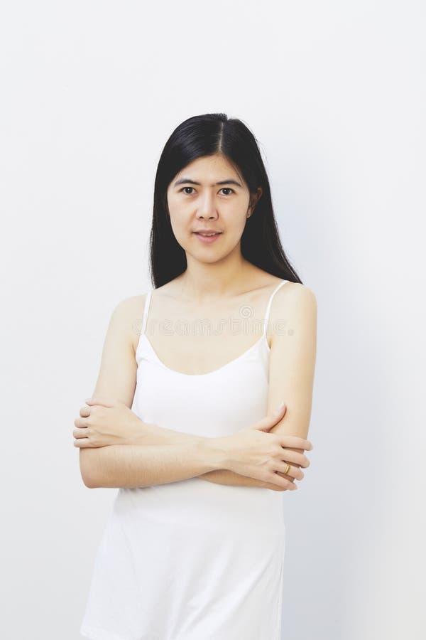beauté asiatique de visage de femme images libres de droits