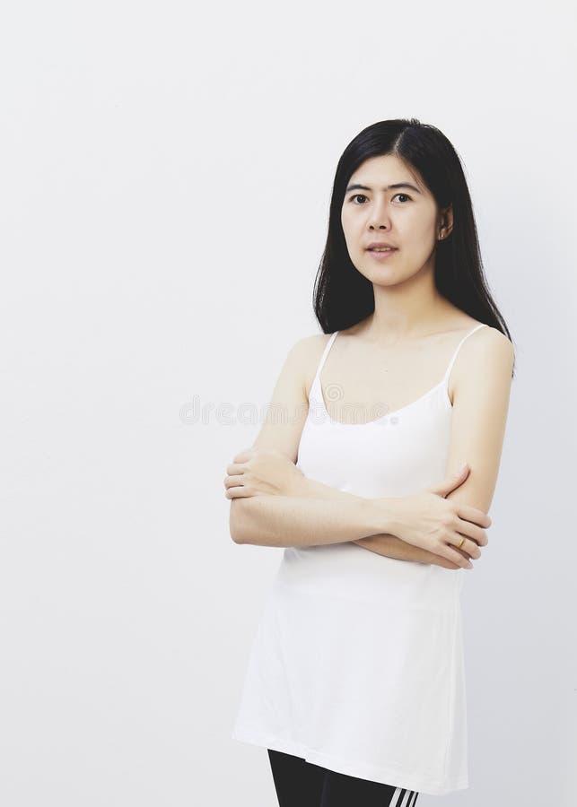 beauté asiatique de visage de femme photo stock