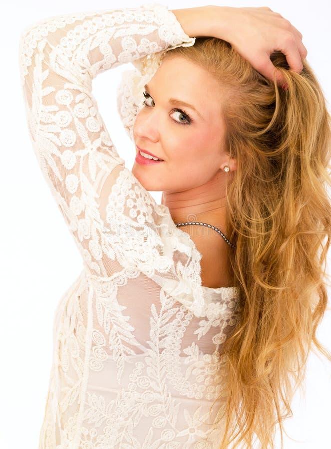 Beauté blonde de soins de la peau photos stock