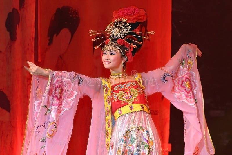Beauté chinoise dans l'exposition photos libres de droits