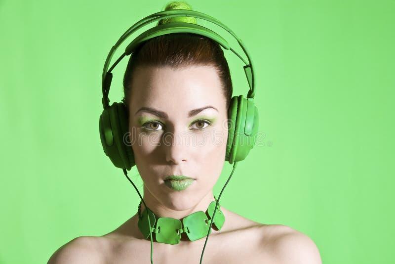 Beauté d'écouteur photos stock