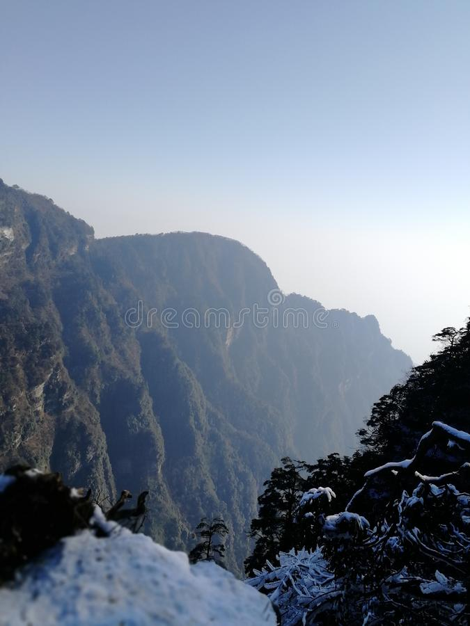 Beauté d'hiver d'Emei Shan, Sichuan, Chine image libre de droits