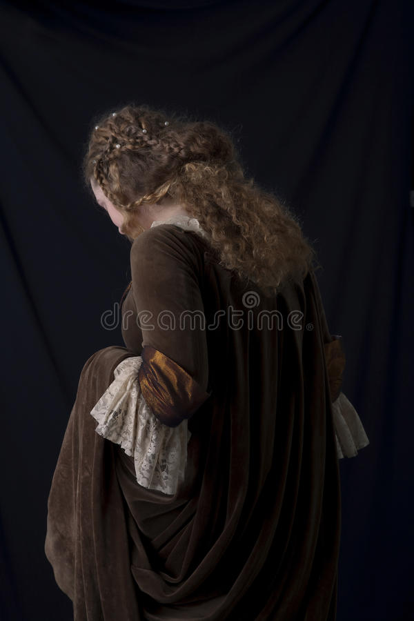 Beauté dans la robe médiévale photos libres de droits