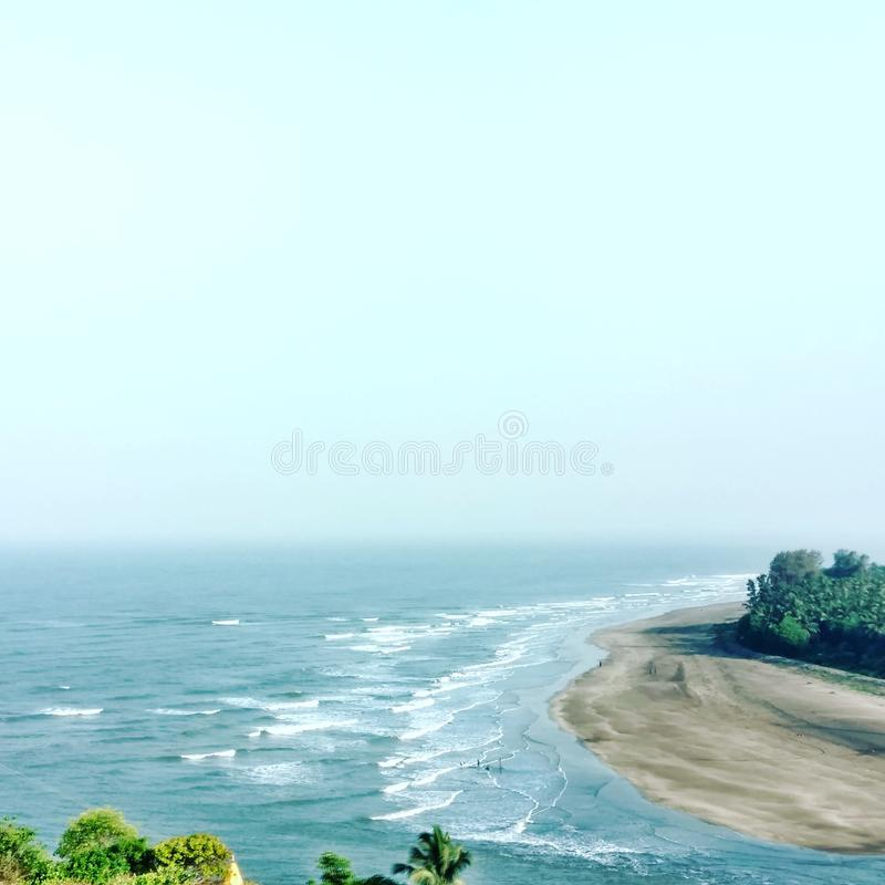 Beauté de côté de plage photo libre de droits