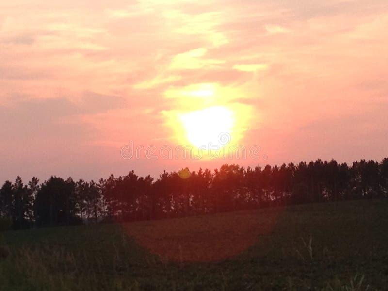 Beauté de coucher du soleil photographie stock