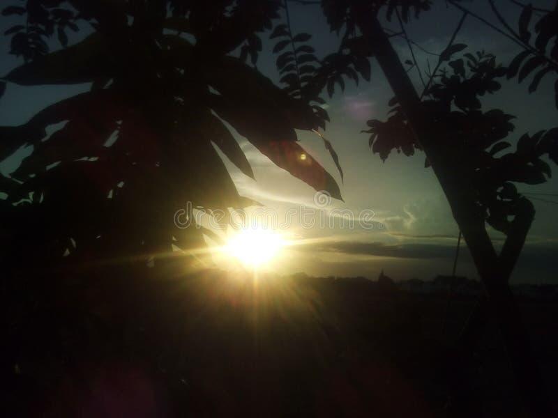 Beauté de coucher du soleil photos stock