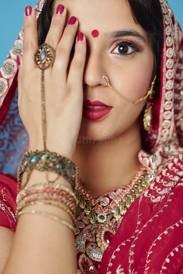 Beauté de femme indienne images libres de droits