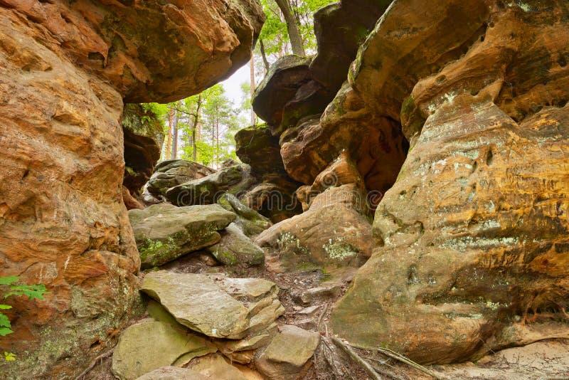 Beauté de la terre. Les roches d'enfer près de Nieklan, Pologne. photo libre de droits