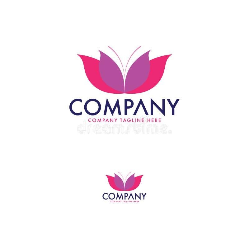 Beauté de luxe Logo Template Conception de logo de papillon Fleur moderne Logo Template illustration libre de droits