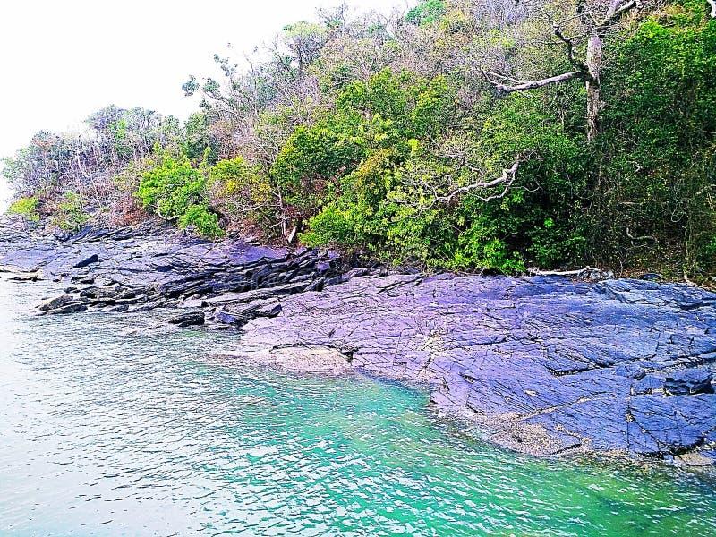 beauté de roche de la mer photographie stock