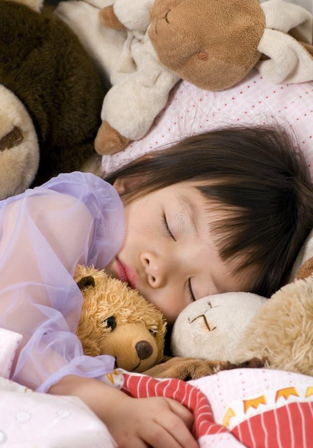 Beauté de sommeil 4 images stock