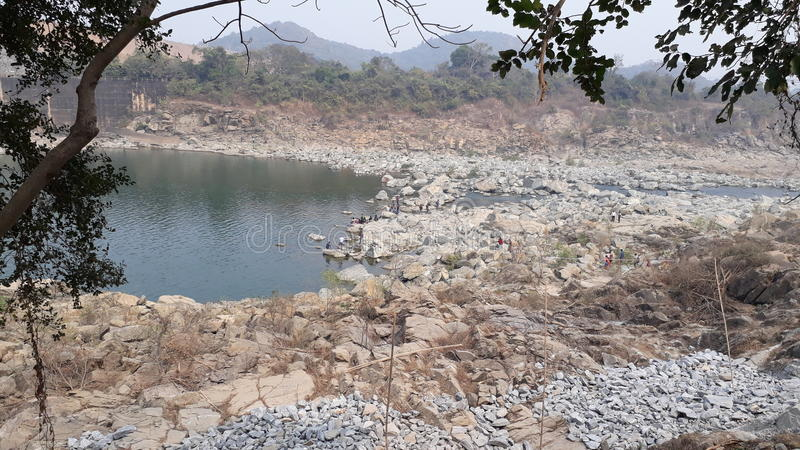 beauté en pierre de natrue de lac de paysage image stock
